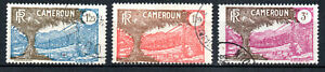 Timbres-colonie-CAMEROUN-YT-n-145-146-148-annee-1927-1938-obliteres