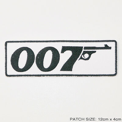"JAMES BOND 007 - Title Insignia 5"" Embroidered Patch"