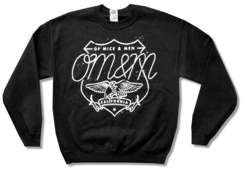Of Mice /& Men Eagle Black Crew Neck Sweatshirt New Official