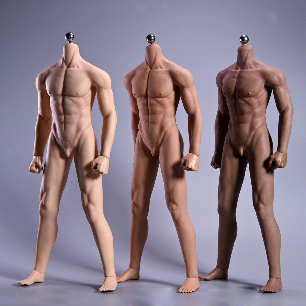 1 6 Scale Male Muscular Seamless Stainless Steel 12-inch Action Figure Body Toy