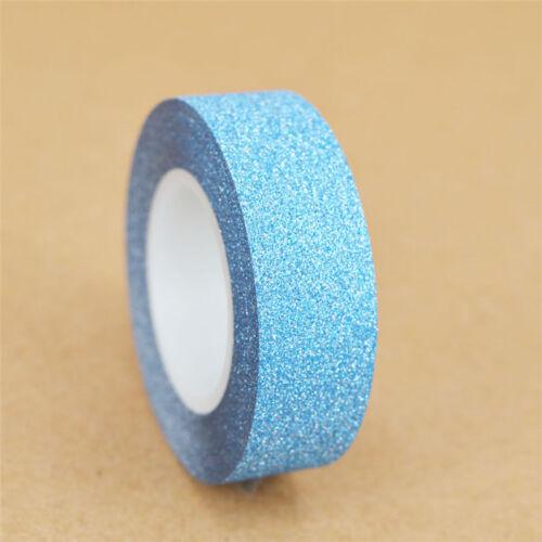 10M Glitter Washi Sticky Paper ing Adhesive Tape Label DIY Craft Decorative