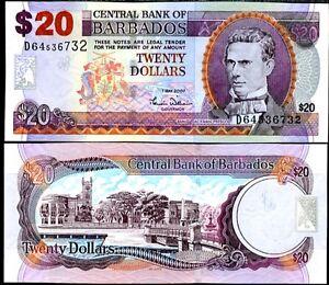 BARBADOS-20-DOLLARS-2007-P-69-a-UNC