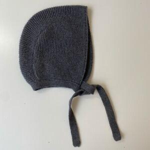New Zara Baby 6-12 Months Grey Knit Bonnet Girls Boys   eBay