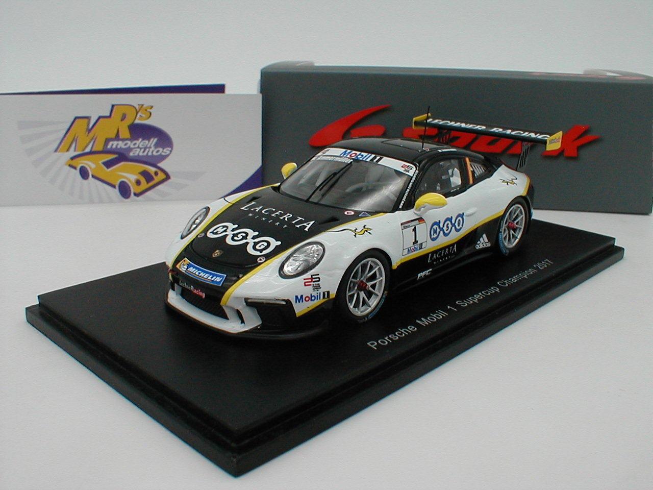 SPARK s5524-Porsche 911 gt3 CUP PORSCHE mobile 1 Supercup Campion 2017 1 43