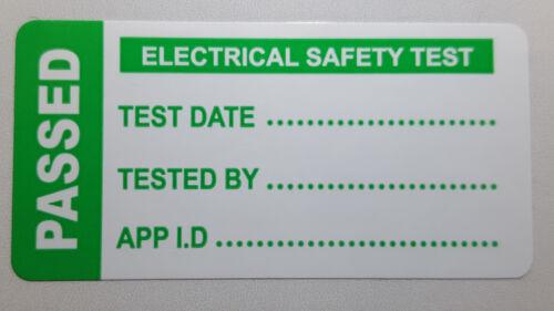 Étiquettes De Test PAT portable appareil Brillant Autocollants Pas Bon Marché papier FREE POST