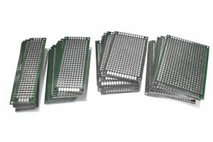 Set of 40 Assorted High-Quality FR-4 Glass Fiber double sided PCB Boards