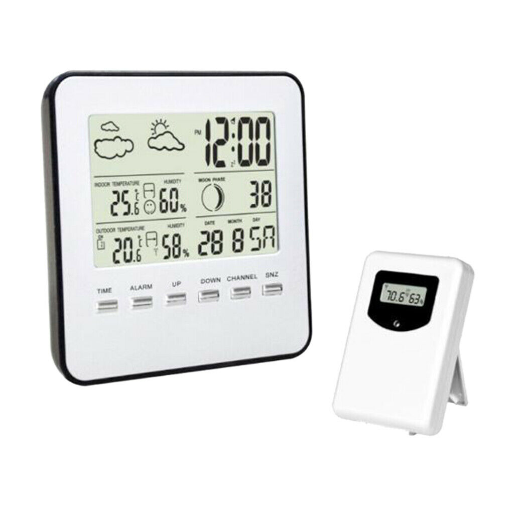 Wireless Digital Weather Station with Forecast/ Temperature/ Clock/ Moon Phase