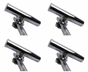 "4X 316 Stainless Steel Fishing Rod Holder for Boat  Adjustable 1-1/4"" to 2"" Rail"