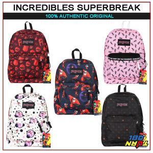 233ebd201e9 Image is loading Jansport-Backpack-Disney-Pixar-THE-INCREDIBLES -Superbreak-School-