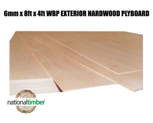 WBP BB//BB Exterior Red Faced Plywood Ply Boards 6mm x 2440mm x 1220mm 8ft x 4
