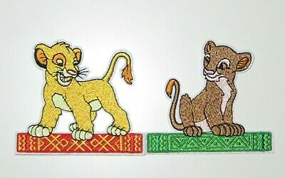 "The Lion King Movie Characters Set of 3 Embroidered 3/"" Tall Iron on Patches"