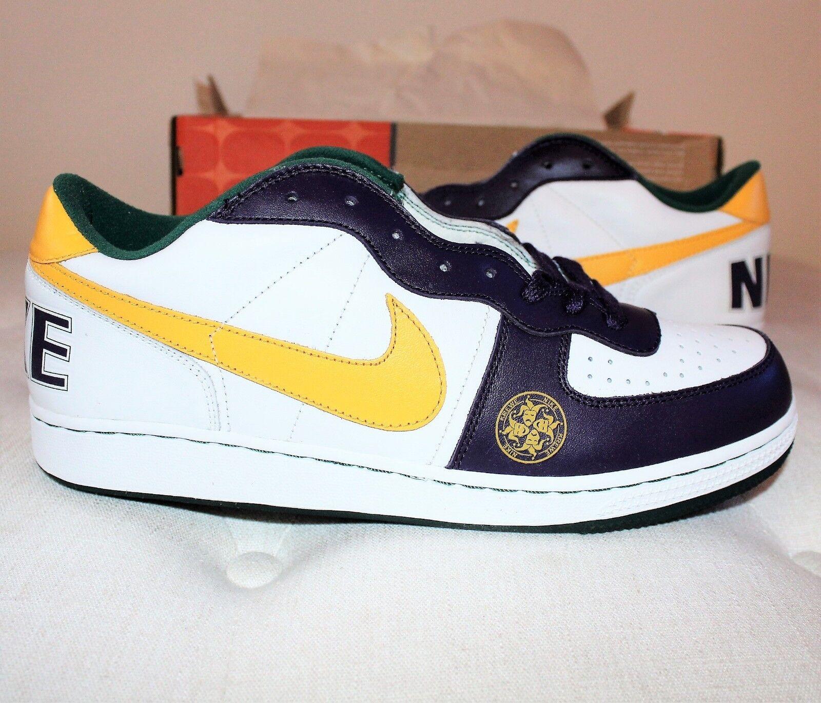 Nike Krewe Terminator Low White Yellow Purple Sz. 11.5 2005 [St]