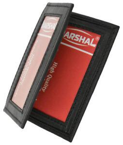 Black-Genuine-Leather-2-ID-Men-039-s-Bifold-Wallet-Credit-Cards-Holder
