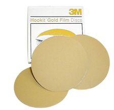 """3M 255L 051131 00962 Hookit 5"""" 220 Grit Film Sanding Discs, Gold"""