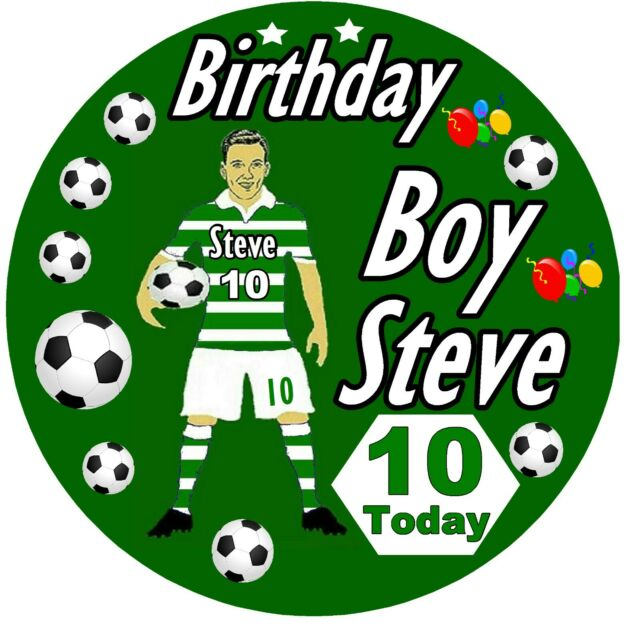 PERSONALISED FOOTBALL MAD / FUN BIRTHDAY BADGE / ANY NAME / AGE / NEW / GIFTS