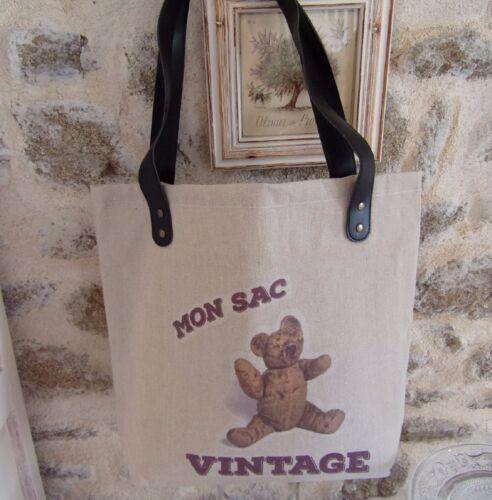 Motif Sac Nounours Porté Tissu Peluche Ours Vintage En Épaule Cabas mon wIrBIfqC