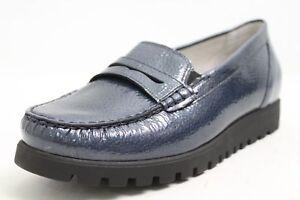 Waldläufer Schuhe blau echt Lackleder Vario Wechselfußbett Schuhweite H