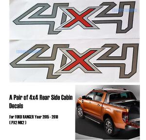 4x4 Side Cabin Rear Body Decal Sticker Ford Ranger Px2 Wildtrak Xlt 2015 2018 Ebay