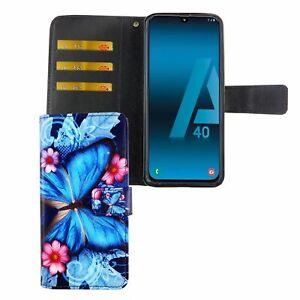 Samsung-Galaxy-A40-Custodia-Cover-per-Cellulare-Custodia-Protettiva-Flip-Blau