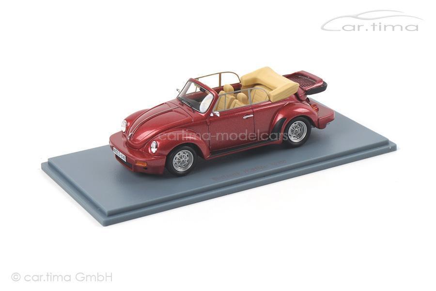 VW estimula Beetle-rosso met. - Neo Scale Models - 1 43