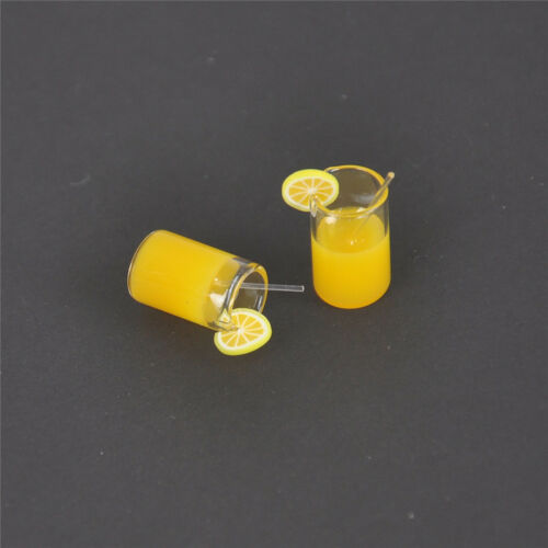 2X Mini Lemon Water Cup Dollhouse Accessories Toy Mini Decor Gift 1:12 FDUS