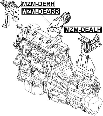 Left Engine Motor Mount At Febest Mzm Dealh Oem D652 39 070b For