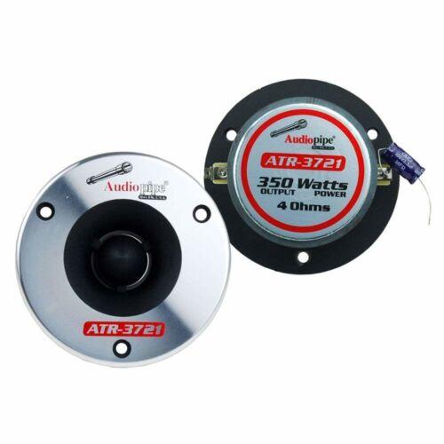 2 Pair 350W Titanium Super Bullet Tweeters 4ohm w// Custom MDF Tweeter Adapters