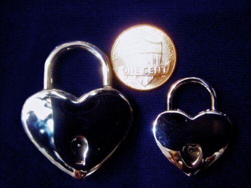 Pendant Cuffs Restraints DV8™ HEART PADLOCK w// Chrome Mirror Finish Collars