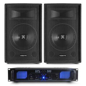 Prime Details About 2X Vonyx Sl10 10 Portable Bedroom Dj Party Speakers Amp Disco System 500W Download Free Architecture Designs Rallybritishbridgeorg
