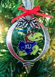 Kansas Jayhawks Holiday Christmas Ornament Tree Trimming ...