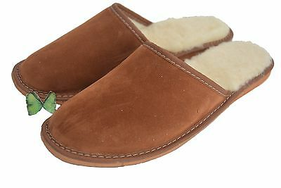 Zapatos Para Hombre Zapatillas Mula gamuza cuero hecha a mano Muy Cálido Talla 6-12