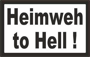 Heimweh-to-Hell-Aufkleber-666-Aufkleber-kaufen-Heavy-Metal-Sticker-AC-DC-Teufel