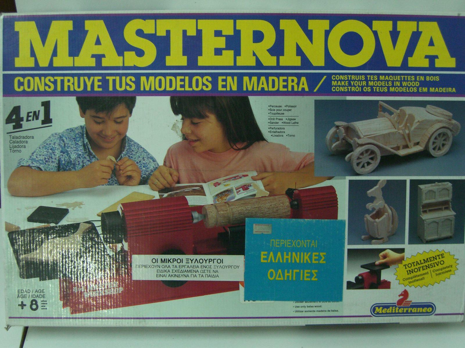 VINTAGE 90S MEDITERRANEO NOVA MASTERNOVA CARPENTER WOOD WORKSHOP EDUCATIONAL MIB