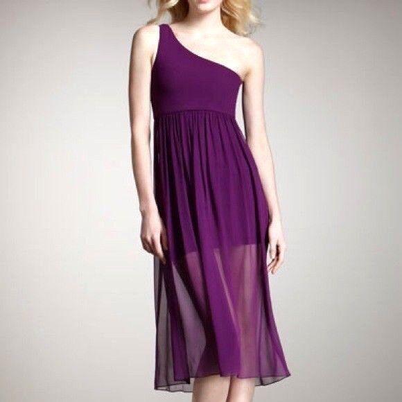 ALICE & OLIVIA Women's KAYLIN Silk One Shoulder MIDI Dress Semi-Sheer Layered 8
