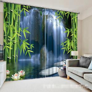 3D Bamboo cae Blockout Cortinas de impresión de fotografías Cortina Tela Cortinas Ventana CA
