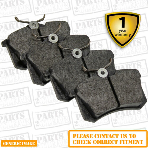 Rear Brake Pads Audi A3 2.0 TDI 16V quattro Hatch 8P1 03-12 140 287.8mm86.98x53x