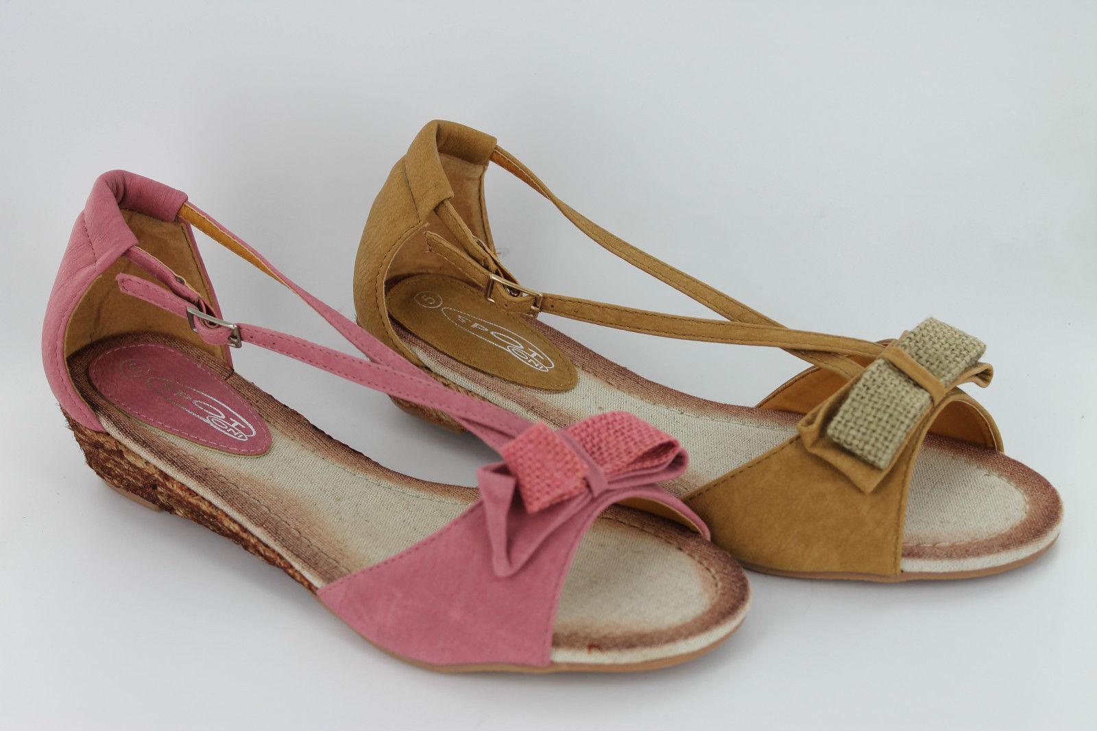 Donna Spot on sandali ROSA taglie O CAMMELLO stile F1930 taglie ROSA 445e03