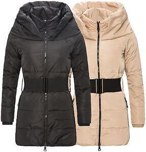 uk availability 3d908 2f504 Details zu Winter Daunenjacke Damen Mantel Steppmantel Jacke hoher Kragen  mit Gürtel D115