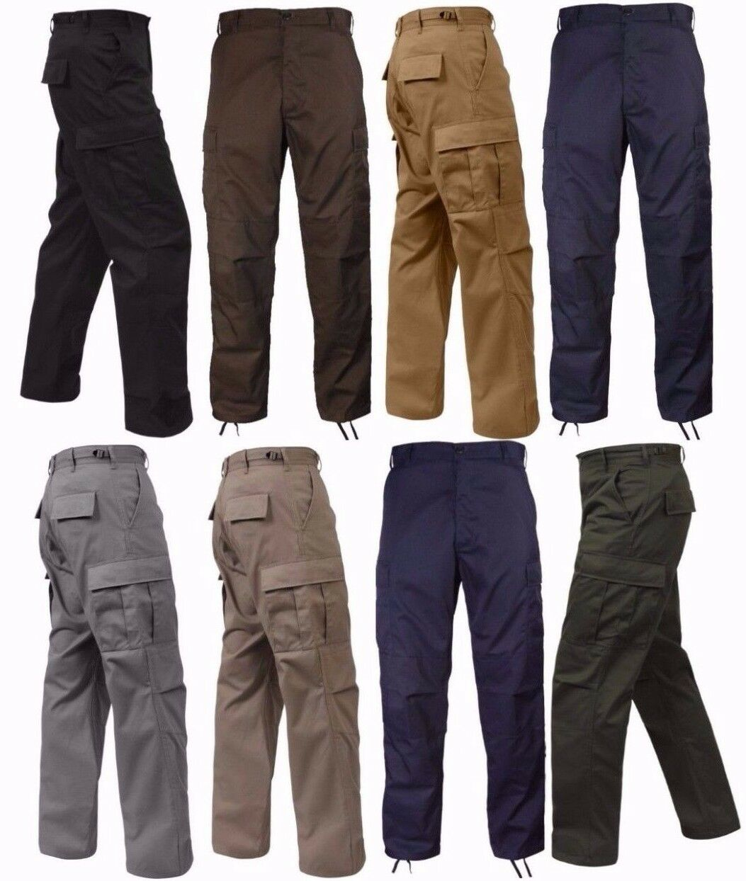 redhco Military Tactical BDU Fatigue Pants - Solid color - Sizes  XS-2XL