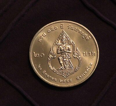 Thailand Intellective Thailand 20 Baht 2012 Unc World Coin Prince Damrong Rajanubhab Thai Agreeable To Taste Asia