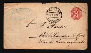 Germany-Wurttenberg-1874-Postal-Cover-Light-Creasing-Z16771