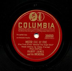 HARRY-JAMES-on-1942-Columbia-36650-Mister-Five-by-Five-That-Soldier-of-Mine