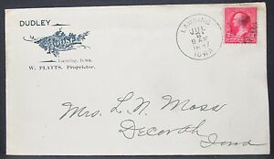Dudley-House-US-Adv-Cover-Lansing-Fancy-Cancel-1897-Railway-post-Office-Letter
