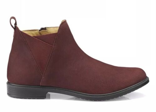SH1* Hotter Womens YORK Ankle BOOTS Burgundy Uk 5.5 Wide Fit