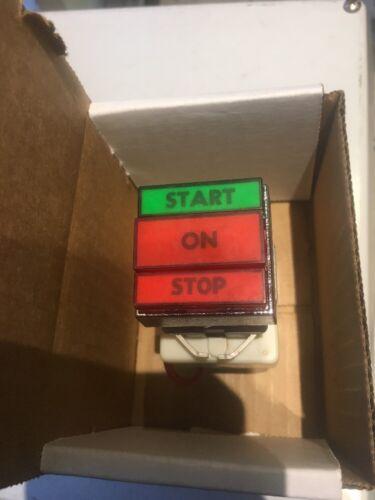 Square D 9001 KXRCGR PUSH BUTTON START STOP Pailot SWITCH