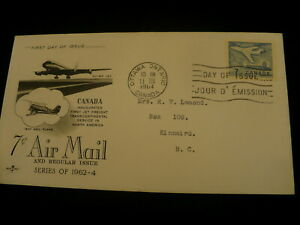 F-D-C-Scott-414-Jet-plane-1964-Canada-Cover-P636