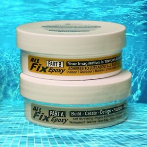 Details about Epoxy Putty SWIMMING POOL SPA Crack Filter Skimmer Light Leak  Repair Underwater