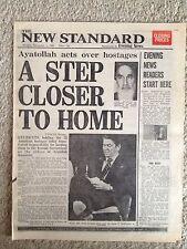 American Hostages Iran Ayatollah Khomeini 3rd November 1980. newspaper headline.
