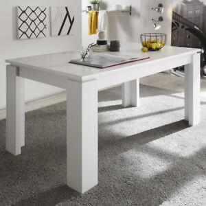 Das Bild Wird Geladen Esstisch Universal In Weiss Dekor Ausziehtisch  Esszimmer Tisch