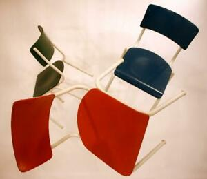 STUHL-INDUSTRIAL-BAUHAUS-DESIGN-70s-70er-chair-chaise-sedia-silla-a-70-a70-GREEN